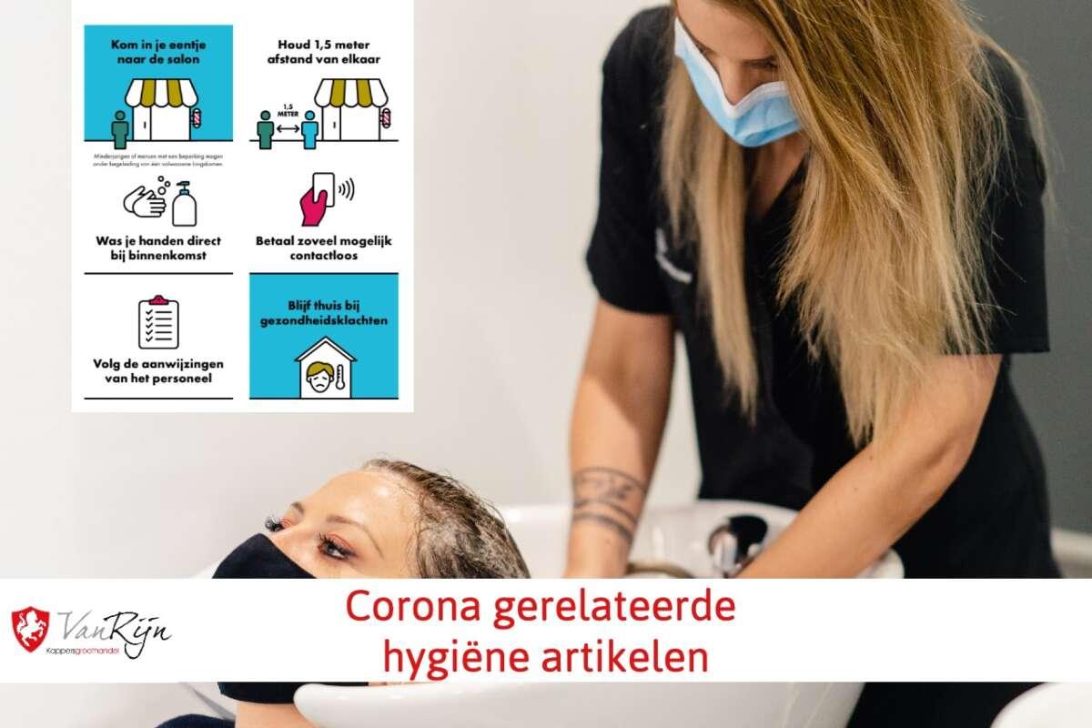 kappersgroothandel Covid19 Corona hygiene artikelen